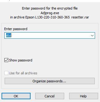 Epson L800 Adjsutment Program